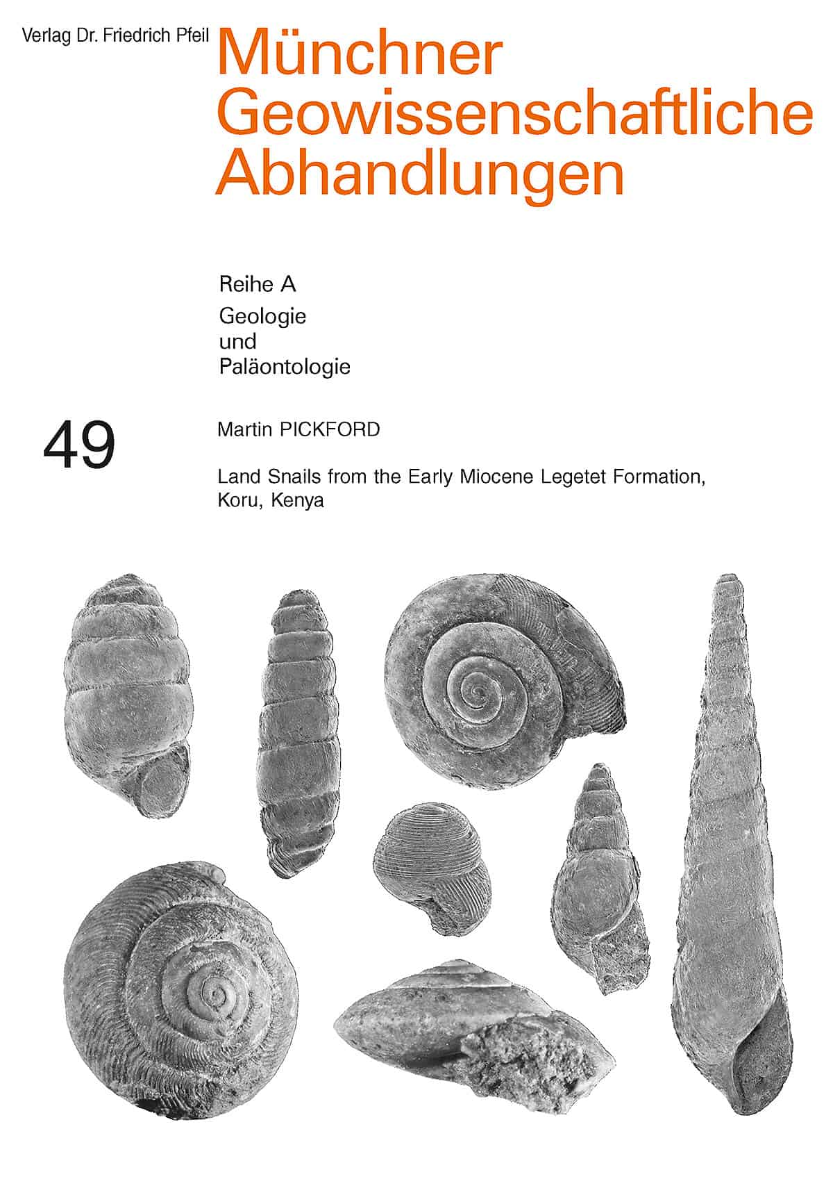 Land Snails from the Early Miocene Legetet Formation, 