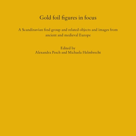 Gold foil figures in focus